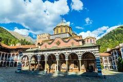 Monastero di Rila, un monastero famoso in Bulgaria fotografia stock libera da diritti