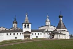 Monastero di Rozhdestvensky Belozersky del vergine Ferapontovo, distretto di Kirillovsky, regione di Vologda, Russia immagini stock