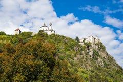 Monastero Di Sabiona, grodowy Saben, Chiusa, Włochy, na górze zdjęcia stock