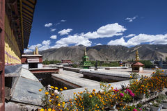 Monastero di Samye vicino a Tsetang nel Tibet - in Cina Immagini Stock