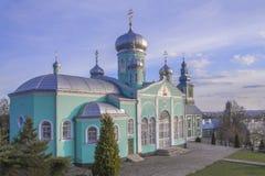 Monastero di San Nicola, Mukachevo, Ucraina Vista primavera-estate fotografia stock libera da diritti