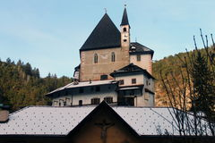 Monastero di San Romedio fotografie stock libere da diritti