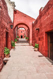 Monastero di Santa Catalina, Perù Fotografie Stock Libere da Diritti