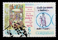 Monastero di Santa Maria de Ripoll, serie dei monasteri, circa 197 Immagine Stock