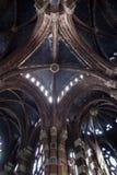 Monastero di Santa Maria de Valldonzella, arché del soffitto della chiesa Fotografia Stock