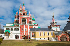 Monastero di Savvino Storozhevsky della chiesa e del campanile Fotografia Stock Libera da Diritti