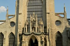 Monastero di SEDLECKÝ con la cattedrale del presupposto in Kutna Hora, repubblica Ceca Fotografia Stock