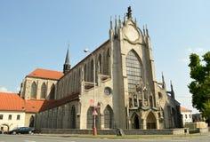 Monastero di SEDLECKÝ con la cattedrale del presupposto in Kutna Hora, repubblica Ceca Fotografia Stock Libera da Diritti