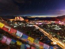 Monastero di Shigatze nel Tibet Fotografia Stock Libera da Diritti