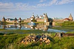 Monastero di Solovetsky Immagini Stock Libere da Diritti