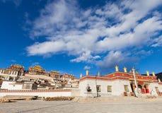 Monastero di Songzanlin in Shangrila, Cina fotografia stock libera da diritti