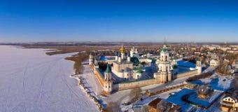 Monastero di Spaso-Yakovlevsky Dmitriev in Rostov le grande Fotografia Stock