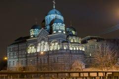 Monastero di St John su Karpovka a St Petersburg Fotografia Stock