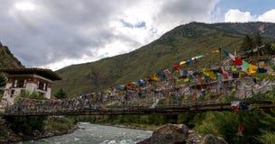 Monastero di Tamchoe, Paro provincia il Bhutan settembre 2015 Fotografia Stock Libera da Diritti