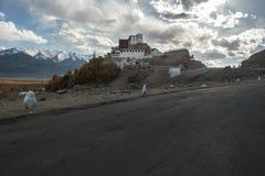 Monastero di Thiksey o Thiksey Gompa, Leh Ladakh, il Jammu e Kashmir, India Immagine Stock