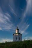 Monastero di trasfigurazione di Solovetsky Spaso-Preobraženskij, isola di Solovki, Russia Cappella di Constantine At Background O Fotografia Stock Libera da Diritti