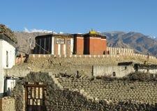 Monastero di Tsarang fotografie stock libere da diritti