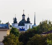 Monastero di vista della natività del vergine a Grodno immagini stock