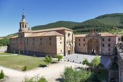 Monastero di Yuso in San Millan de La Cogolla, La Rioja fotografia stock libera da diritti