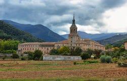 Monastero di Yuso, San Millan de la Cogolla, La Rioja, Spagna fotografia stock