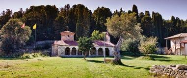 Monastero di Zvernec, Vlora, Albania Fotografia Stock Libera da Diritti