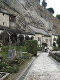 Monastero e cimitero di St Peters in citt? di Salisburgo, Austria immagini stock