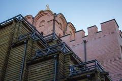 Monastero e museo antichi della cattedrale della facciata Immagini Stock Libere da Diritti