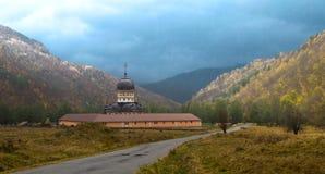 Monastero ed autunno vero Fotografia Stock Libera da Diritti