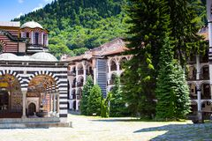 Monastero famoso di Rila, Bulgaria fotografia stock