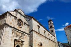 Monastero francescano. Ragusa, Croazia fotografia stock libera da diritti