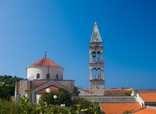 Monastero Franciscan. Makarska. Il Croatia immagini stock