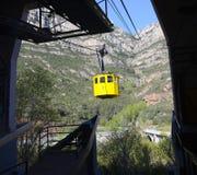 Monastero funicolare di Montserrat, Spagna immagini stock