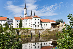 Monastero gotico Cistercense e chiesa, Vyssi Brod, regione della Boemia del sud Fotografia Stock Libera da Diritti