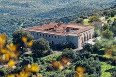 Monastero in Grecia Fotografia Stock