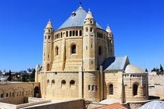 Monastero il Dormition a Gerusalemme Fotografie Stock