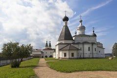 Monastero interno di Ferapontov del cortile Ferapontovo, distretto di Kirillov, regione di Vologda, Russia fotografia stock libera da diritti