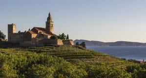Monastero in mare Immagini Stock