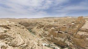Monastero marzo di Sabas Fotografie Stock Libere da Diritti