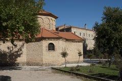 Monastero mega di Spilaio in Kalavryta Fotografia Stock Libera da Diritti