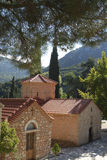 Monastero mega di Spilaio in Kalavryta Immagini Stock