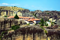 Monastero, Meteora, Grecia fotografie stock