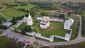 Monastero in Možajsk, Russia del ` s dell'uomo di Mozhaysky Luzhetsky Ferapontov stock footage