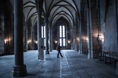 Monastero in Mont-San-Michel immagini stock libere da diritti