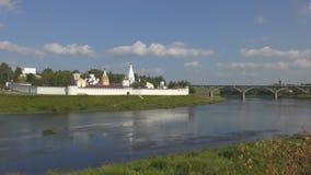Monastero nella città di Staritsa archivi video
