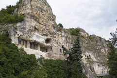Monastero nella montagna fotografie stock
