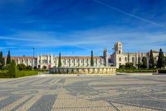 Monastero o Hieronymites di Jeronimos Fotografie Stock
