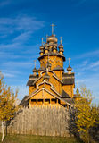 Monastero ortodosso di legno, Ucraina Immagine Stock