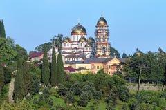 Monastero ortodosso di Novy Afon, Abkhazia Fotografia Stock Libera da Diritti