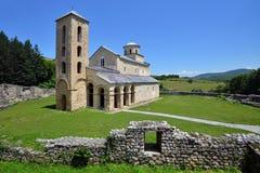 Monastero ortodosso serbo Sopocani Fotografie Stock Libere da Diritti