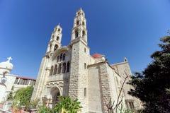Monastero ortodosso sopra bene di Jacob a Nablus in Palestina fotografia stock